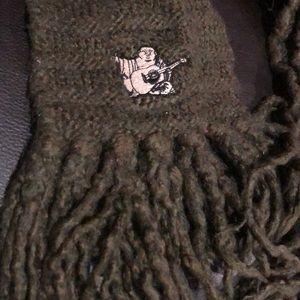 Green True Religion Winter Scarf